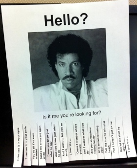 Lionel Richie Wanted Poster